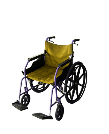 mobility nursing:  Wheelchair service in airport terminal Stock Photo