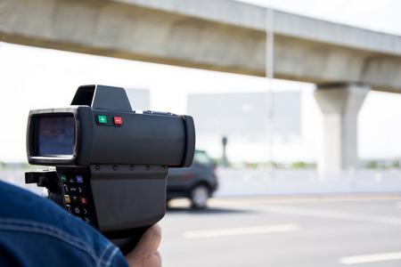 catch speeding drivers with a radar gun
