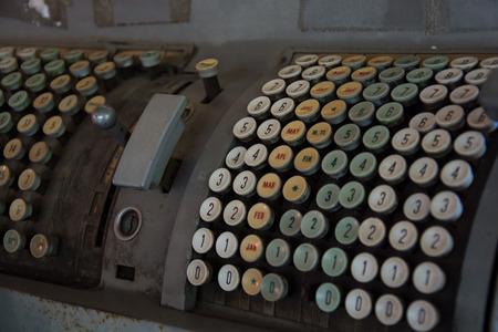 telegrama: Tax-calculadora antigua antig�edades Foto de archivo
