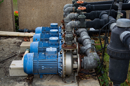 electric power station: motor pump water electric Stock Photo