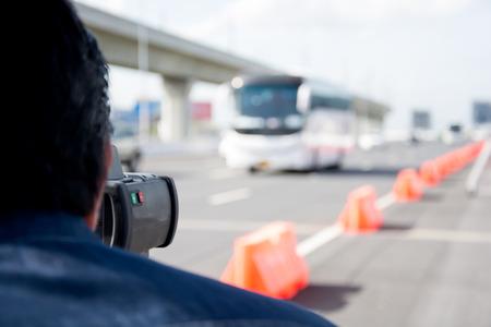 radar gun: catch speeding drivers with a radar gun