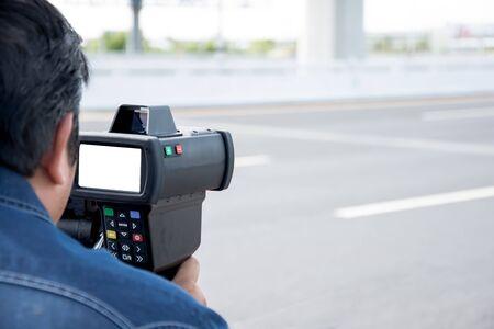 speeding: catch speeding drivers with a radar gun