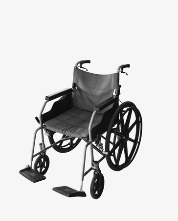disablement:  Wheelchair service in airport terminal Stock Photo