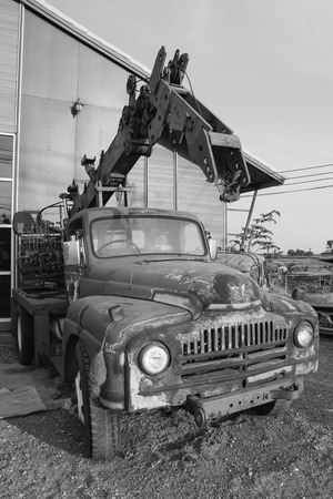 construction machinery: black and white mobile crane Construction Machinery
