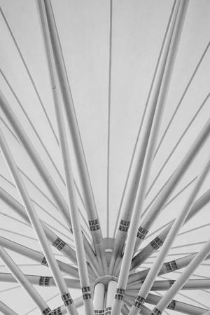 eurostar: black and white abstract modern station building structure Stock Photo