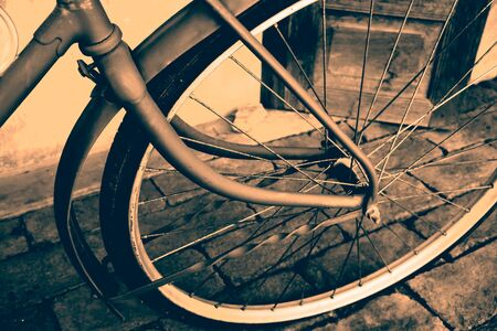 bike cover: Vintage bicycle detail close up