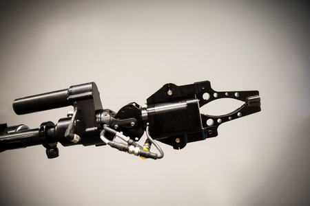 Search and rescue robot unit with tracks Stock Photo