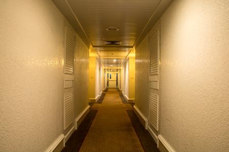 fires artificial: corridor in the hotel
