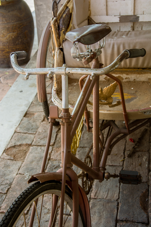three wheeler: Old three-wheeler,Thailand tricycle in vintage style Stock Photo