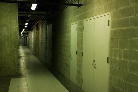 hallway: exit hallway fire security