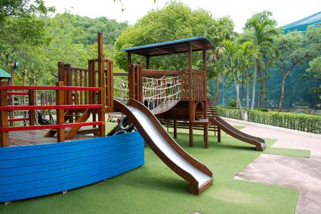 children Stairs Slides Playground equipment Imagens - 44799768