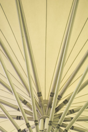 eurostar: abstract modern station building structure, vintage color style Stock Photo