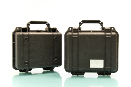 watertight: Double Case for protecting equipment Stock Photo