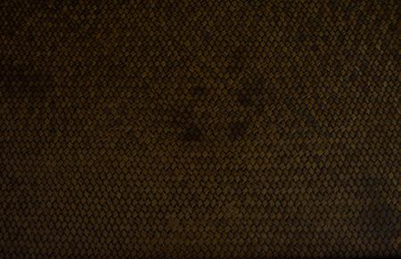 wicker: heavy brown weave of brown wicker rings