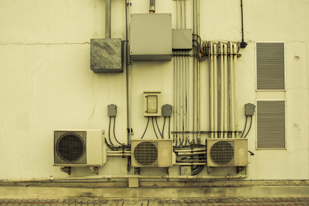 units: Air conditioners condenser units, vintage color style