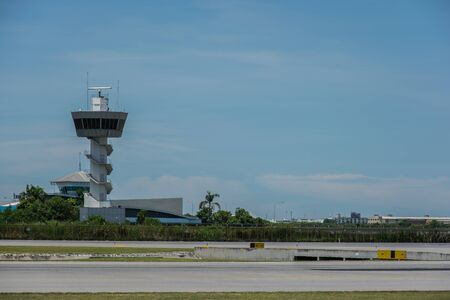 traffic control: Air Traffic Control tower and blue Sky