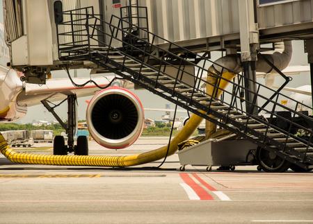 passenger aircraft: boarding on the passenger aircraft