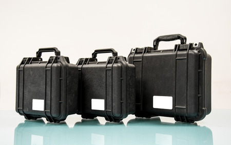 safety  Black case on table Stock Photo