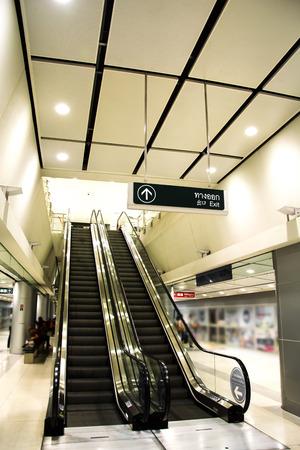 Modern Station escalator and architecture interior design