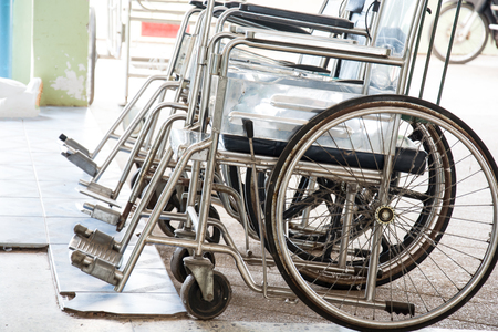 Row Wheelchairs in the hospital