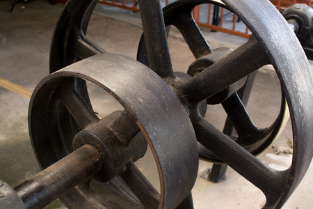 A water irrigation wheel and pump used to irrigate crops Banque d'images