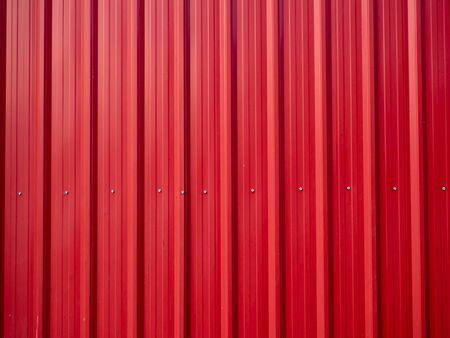 The Red zinc texture wall,metal floor. Red tile roof floor background