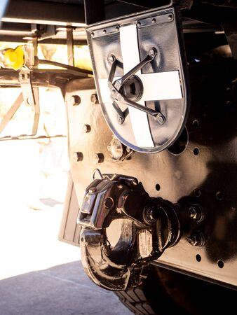 el equipo de bloqueo de acoplamiento de remolque automotriz se conecta Foto de archivo