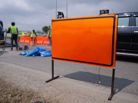 signs repairs road and worke