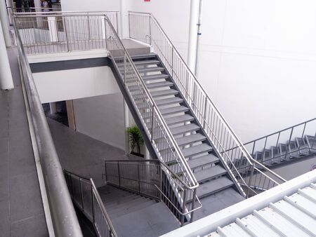 emergency exit , Staircase in modern modern building