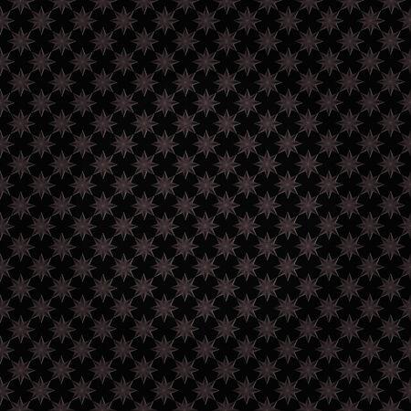 black metallic background: Bright metallic star pattern on black seamless abstract background. Stock Photo