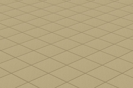 floor coverings: Linoleumcarpet with plaid fine texture. Light brown resilient flooring horizontal layout perspective.