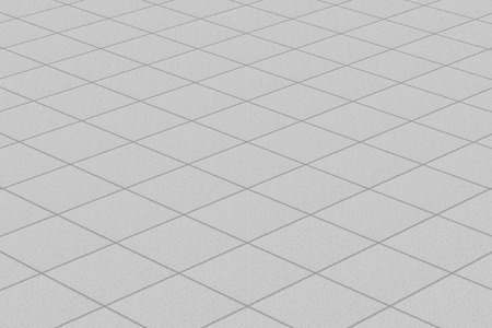 flooring: Linoleumcarpet with plaid fine texture. Light gray resilient flooring horizontal layout perspective.