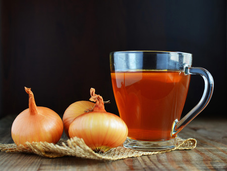 Onion tea for colds homemade folk remedy