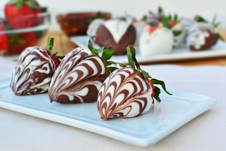 chocolate covered strawberries: Chocolate covered strawberries Stock Photo