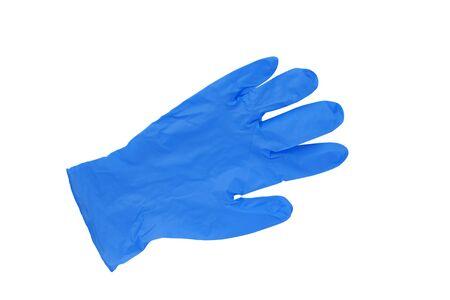 Blue medical gloves isolated on white background Reklamní fotografie