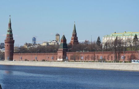 Kind on walls and towers kremlin from the river Stock Photo
