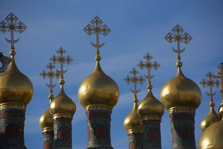 Kind on temple domes in territory kremlin