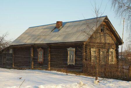 The old wooden house being in Russian village