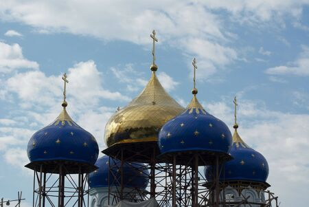 Kind on erected domes of church