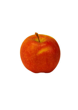 Close up of a red apple on a white background  Stock Photo