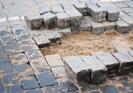 pavement repairs Stock Photo