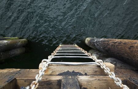 Ladder from the ocean to the pier