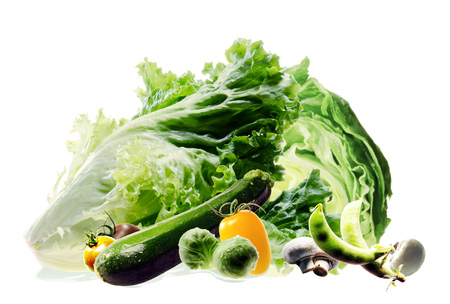 Green leafy vegetables Stock Photo