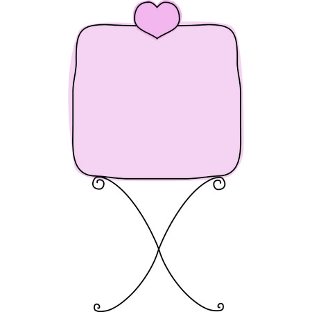 Wrought Iron Heart Sign 版權商用圖片 - 5423768