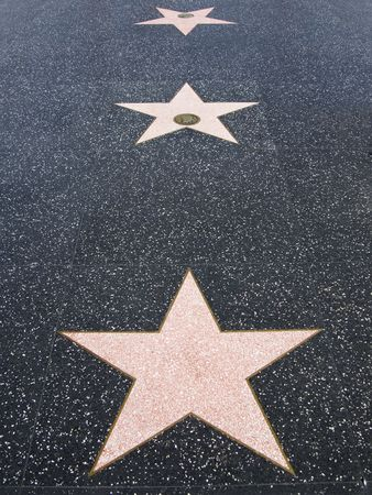 Hollywood Walk of Fame Stars Stock Photo - 2681616
