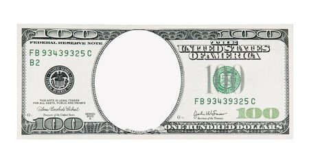 1 object: 100 Dollar Bill Front No Face