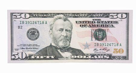 cuenta: 50 Dollar Bill Frente