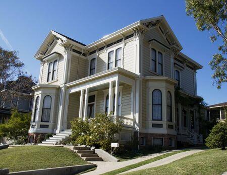 Victorian Home at an Angle Banco de Imagens