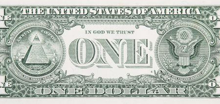 1 object: One Dollar Bill Back Detail