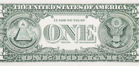 dollar bills: One Dollar Bill Torna Dettaglio Archivio Fotografico